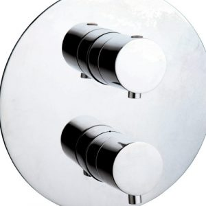 Plus 22 mm Twin Concealed Thermostatic Shower Valve with Diverter